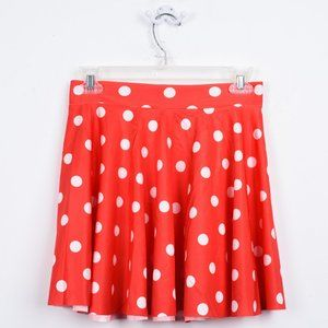 Women's Polka Dot Elastic Waist Skirt